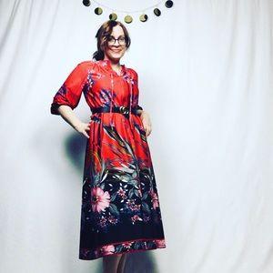 Vtg Mumu maxi dress